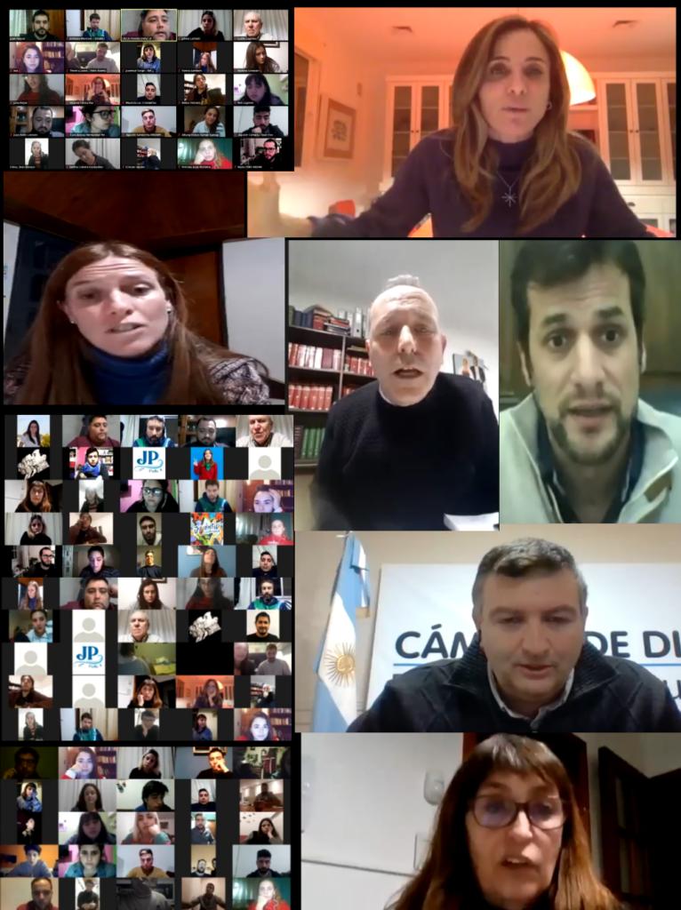 En un encuentro virtual con más de 30 organizaciones jóvenes que componen el Concejo de la JP del Partido Justicialista La Plata.